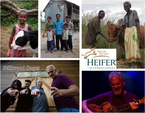 We got to speak with charity Heifer International and Curtis Hildebrand (lower right), of the rock band Stillwood Sages, who is supporting them through Music For Good.